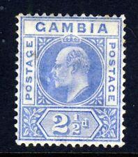 GAMBIA King Edward VII 1905 2½d. Ultramarine Keyplate Watermark MCCA SG 60 MINT
