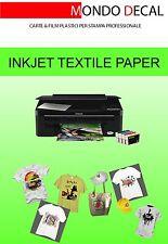 carta transfer per t-shirt (tessuti scuri): 5 fogli A4 stampa inkjet