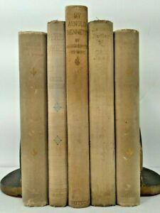 1896~GREAT CRAFTSMEN~Gray 5 Book Lot~Old Set~Antique Home Decor~HUGH WYNNE