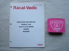 Racal-Vadic Va317C/D/G Series 300 Bps Modems Operating & Service Manual