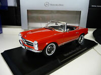 1:18 Norev Mercedes 230SL 280SL Convertible W113 red Dealer Ed. FREE SHIPPING