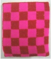 Unisex Pink and Red Check Checkered Pattern Wristband Sweatband - Brand New
