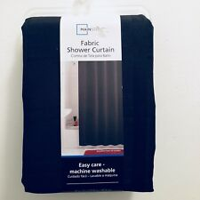 """Mainstays Easy Care Fabric Shower Curtain 70""""x72"""" ~ Solid Black BEST OFFER AVAIL"""