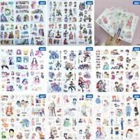 6 Pcs Cute Japan Anime Series Animal Sticker Diary DIY Sticker Album Decor C~@
