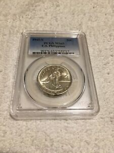 1945-S US-PHIL 50c PCGS MS-65 Nice original coin