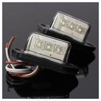 2 x Luz de matricula de licencia posterior de LED de coche 12 / 24V Y2A1