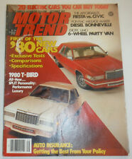 Motor Trend Magazine Fiesta Diesel Bonneville September 1979 NO ML 123014R2