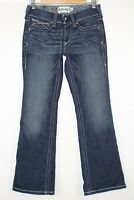 Ariat Real Denim Women's Mid Rise Boot Cut Size 26s Ocean Whipstitch # 10014022
