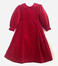 STRASBURG Boutique Garnet Red Velvet Fancy Long Holiday Party Dress Gown 6 Years