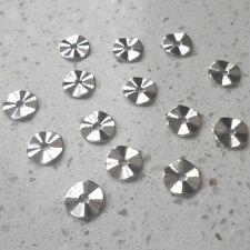 LOT de 40 PERLES RONDELLES plates INTERCALAIRE ondulées 10mm ARGENTE SANS NICKEL