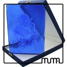 Icona formella vetro Murano con figura Papa Santo Giovanni Paolo II