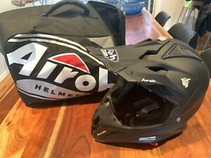 AIROH - AVIATOR 2.2 Matt Black MX Helmet Motorcycle Dirt Bike Motorbike AU Size