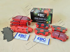 FOR HONDA CIVIC TYPE R 2.0 EP3 FRONT REAR EBC RED STUFF BRAKE PADS SET
