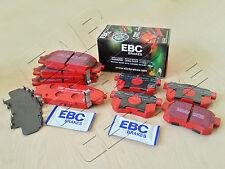 FOR HONDA CIVIC TYPE R 2.0 EP3 FRONT REAR EBC RED STUFF BRAKE PADS SET