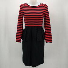 Mar By Marc Jacobs Blue & Red Long Sleeve Peplum Dress Size 4