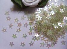 200pcs-4.5 MM Transparent White Star Christmas Sequins W/ a Hole-Q019W