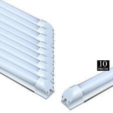 10x LED 4 Foot T8 Integrated Tube Light W/ Bracket 20w Bright White MILKY 6500K