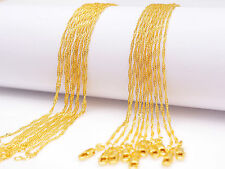 """Filled """"Water Wave"""" Chain Necklace Pendants 10Pcs Wholesale 18"""" Jewelry 18K Gold"""
