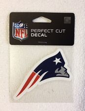 "New England Patriots 4"" x 4"" Team Logo Truck Car Auto Window Die Cut Decal Color"