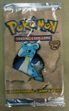 Pokemon Fossil 1999  Booster Short Pack Lapras Cover Art Open Set 11 Cards