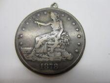 1878 S Trade Dollar Opium Photo Locket Box