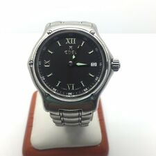 """EBEL STAINLESS STEEL """"1911"""" MEN'S WATCH WITH BLACK DIAL"""