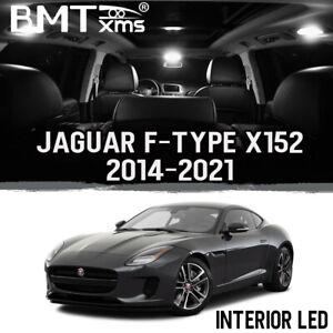 20x White Interior LED + License Plate Light for Jaguar F Type X152 2014-2021