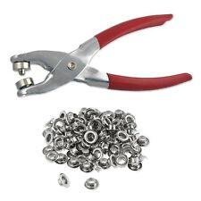 Eyelet Grommet Setting Pliers Leather Hole Grommets Punch 100 Kit Tool Setter