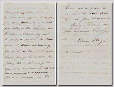 Victor Hugo (Les Misérables) – autograph letter signed