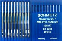SCHMETZ DPX17 NM:200 SIZE25 SY3355 INDUSTRIAL WALKING FOOT SEWING MACHINE NEEDLE