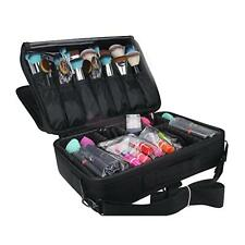 Make up Artist Train Case Travel Toiletry Organizer Cosmetic Brushes Set Box