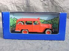 Voiture TINTIN Atlas réf. 057. La jeep des Pompiers de l'Affaire Tournesol