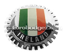 1 - NEW Chrome Grille Grill Badge Irish Airlann Flag Emblem of IRELAND MEDALLION