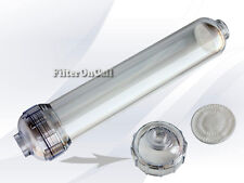 """Inline refillable clear cartridge 2"""" x 10"""" 1/4"""" FPNT DI RO KDF No Housing needed"""