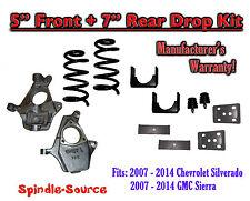 "2014 Chevrolet Chevy Silverado / GMC Sierra 1500 V8 5"" / 7""  Lowering Drop kit"