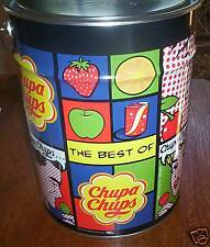 1000x Chupa Chups Lollipops Mega Tin Assorted Candy Sweets Lollies 1000 X 12g