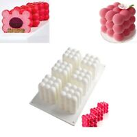 6 Cavity 3D Cube Candle Mold Silicone Molds for DIY Handmade Craft Soy Wax Z4G3