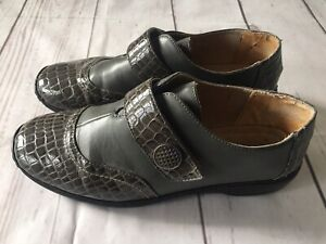 🤍 Rosetta   Grey/Olive Leather Comfort Shoes   Size 8/39