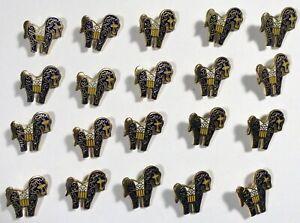 20 Vtg JHB International Bug Tech Metal Enamel Cloisonné Novelty BUTTONS Horse