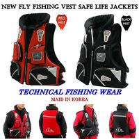 New Fly Fishing Vest Detachable Pad Safe Life Jackets Waistcoat Boating Korea