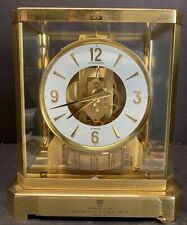 1973 Jaeger LeCoultre 15 Jewels Atmos Yellow Gold Coated Gilt Brass Desk Working