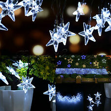 30LED Star String Lights Solar Powered Cool White Outdoor Waterproof Lamp