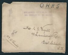 "Wwii Ohms Cover – ""Received From H.M. Ship No Charge To Be Raised�"