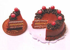 1:12 Scale Sliced Chocolate Layer Cake Dolls House Kitchen Food Accessory SC22