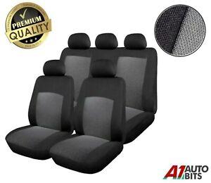 For Skoda Fabia Octavia Roomster Yeti Full Seat Covers Protectors Grey Black