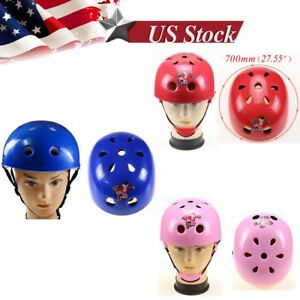 Kids Gift Skateboard Roller Blade Bicycle Scooter Safety Helmet Cap Protector US