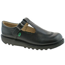 Kickers Girls Patent/matte Leather Touch Fastening/buckle School Shoes Black 8. Kick T 39