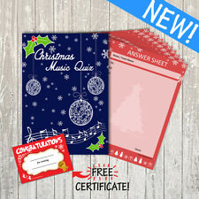 20 Player Christmas MUSIC Quiz / Party / Family Game: 15 Questions