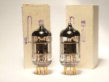 Matched pair Gold pins Gold grid 6ZH1P-EV Voskhod Kaluga 6AK5 EF95 1977 NOS NIB