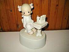 Precious Moments Figurine Love Is Sharing 1981 #E-7185 Music Box